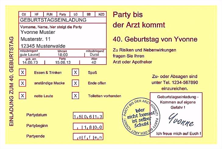 Originelle Einladung Geburtstag