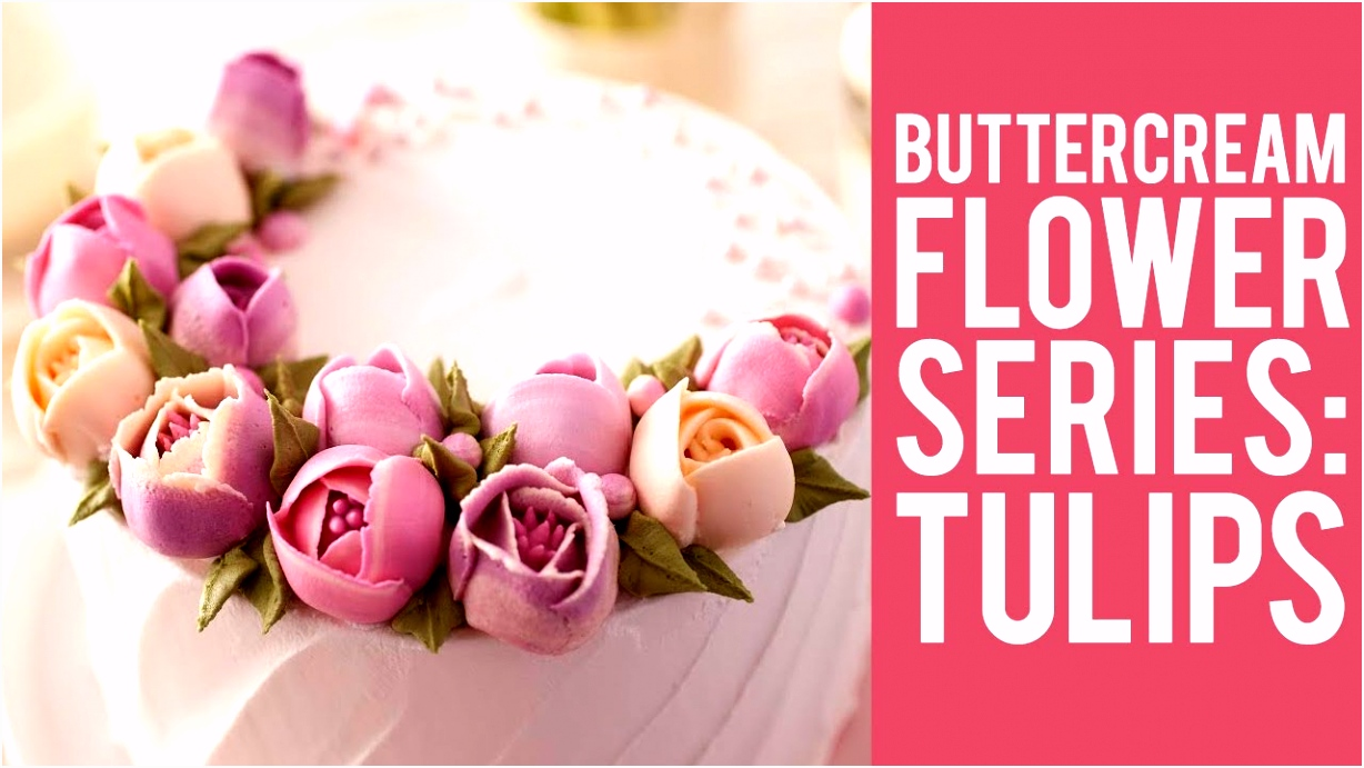 How to Make Buttercream Flowers Tulips