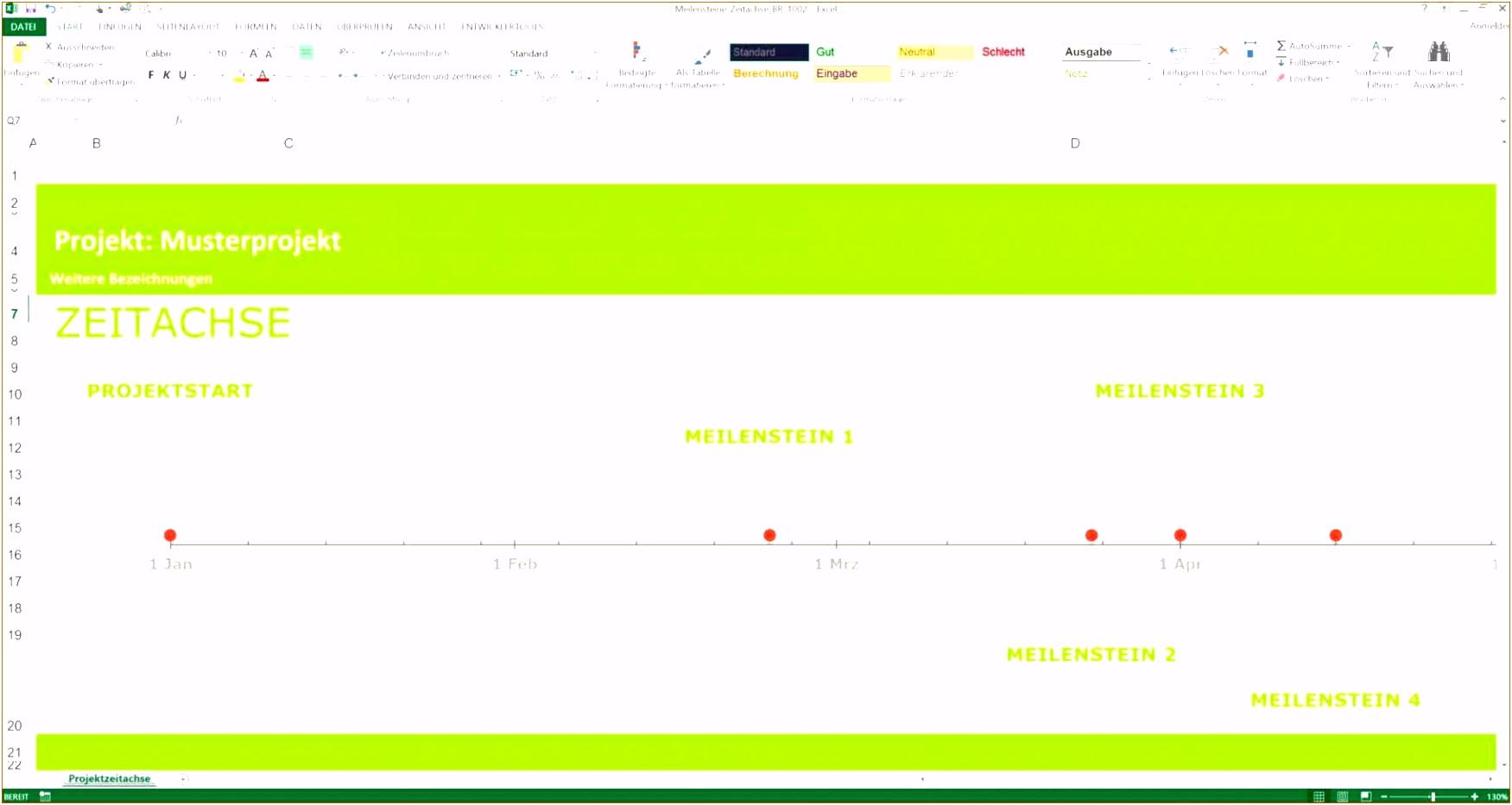 Herunterladbare Projektplan Excel Vorlage