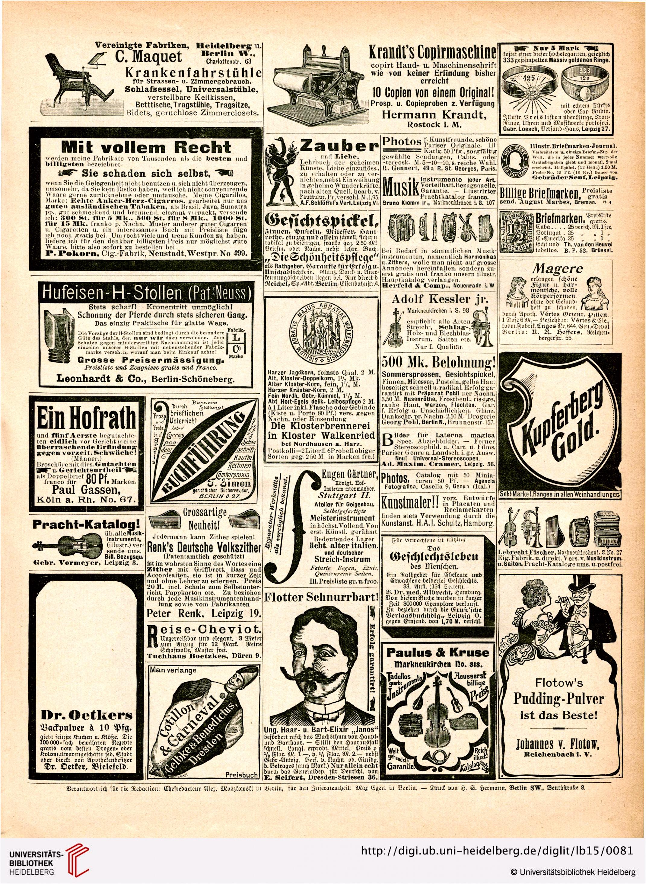 Lustige Blätter schönstes buntes Witzblatt Deutschlands 15 1900