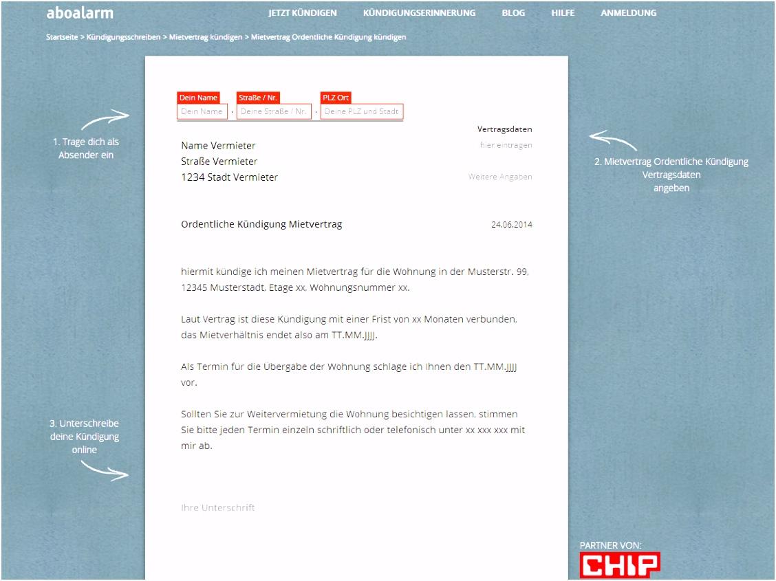 Kündigung Mietvertrag Vorlage Download – kostenlos – CHIP