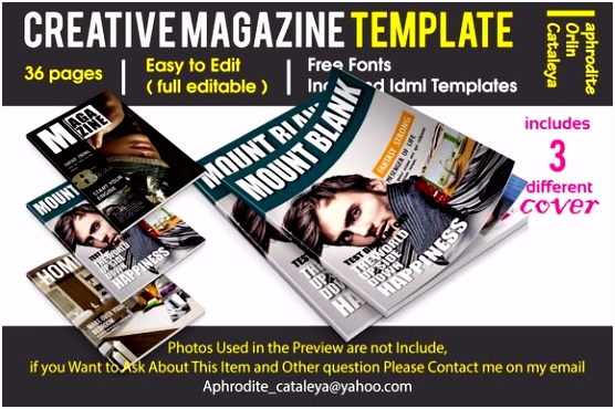 Creative Magazine Template by Orlin on creativework247