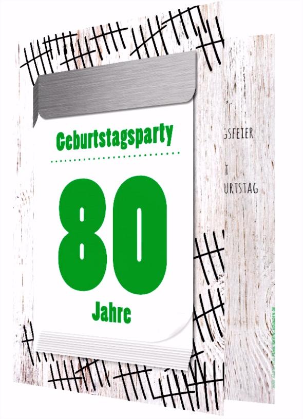 80 Geburtstag Einladung Vorlage