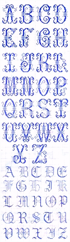 Buchstaben Sticken Vorlage Alphabet Cross Stitch Alphabets Pinterest