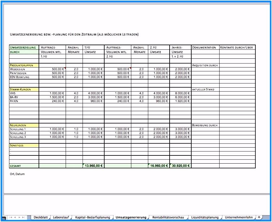 48 Businessplan Vorlage Kostenlos