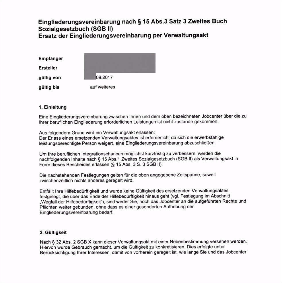 EGV per Verwaltungsakt mit dubioser Gültigkeitsdauer Erbitte Hilfe
