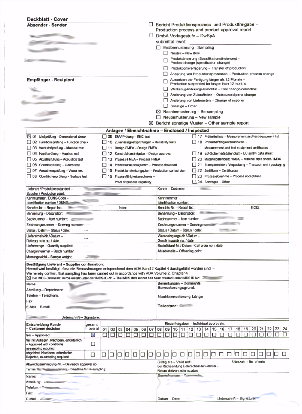 VDA 2 Where to find EMPB Erstmusterpr fbericht bilingual forms