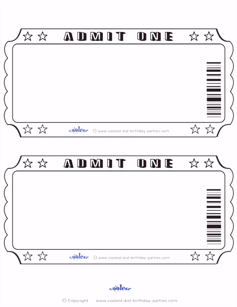 Event Ticket Stub Template Free Pdf shop Concert Design Sample