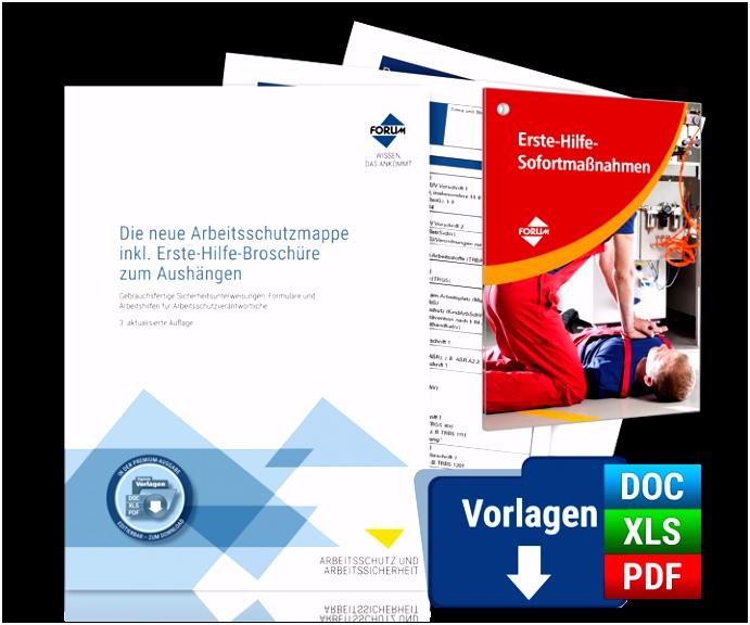 Die neue Arbeitsschutzmappe inkl Erste Hilfe Broschüre zum Aushängen