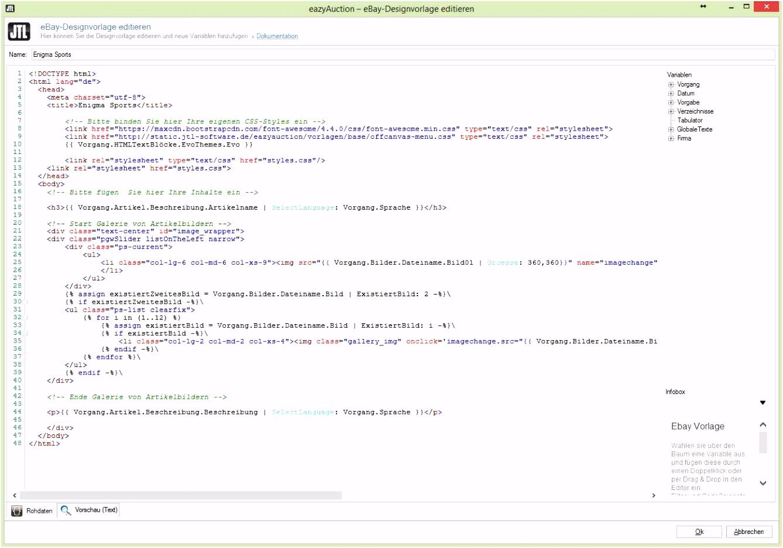 Ebay HTML Vorlagen Druckbare Ebay Designvorlage Erstellen – Jtl