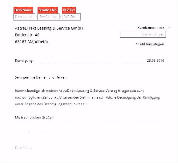 Sonderkundigung Kabel Deutschland Vorlage