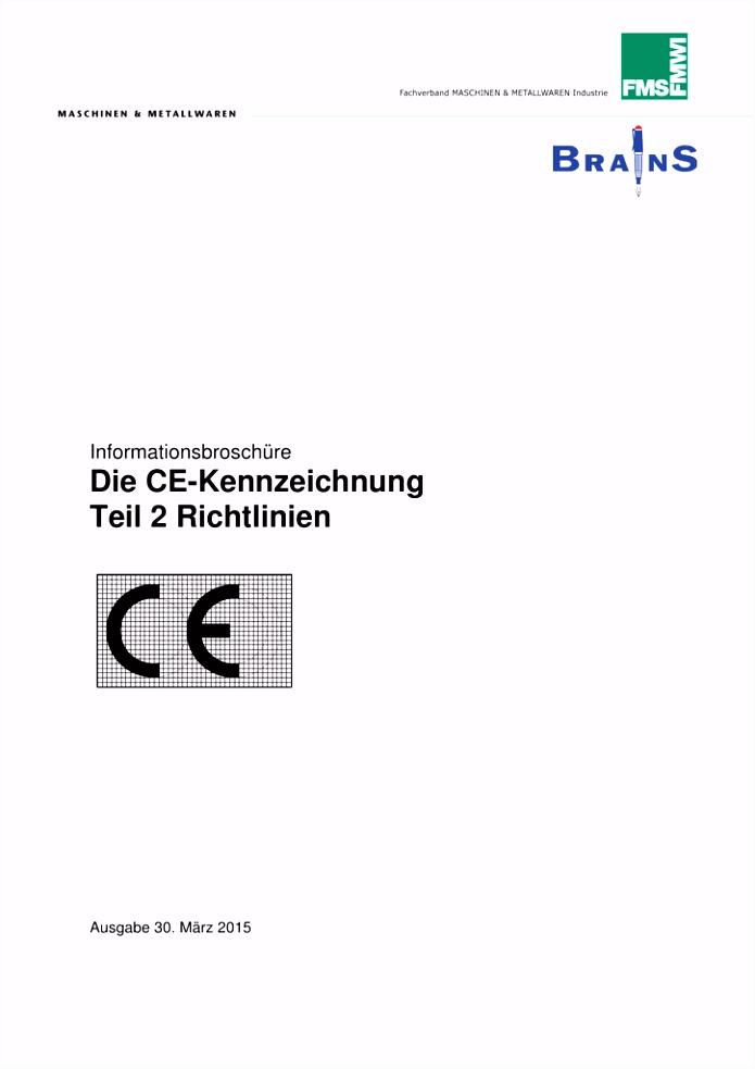 Die CE Kennzeichnung Teil 2 Richtlinien