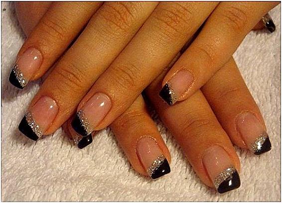 French Nails Muster Schlicht Nageldesign Bilder Wunderschöne
