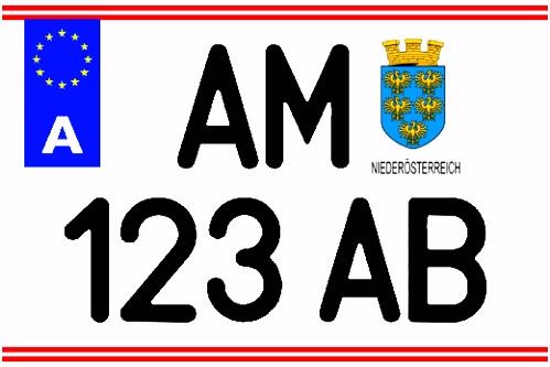 –sterreich Serie V EU Kennzeichen jetzt kostenlos generieren