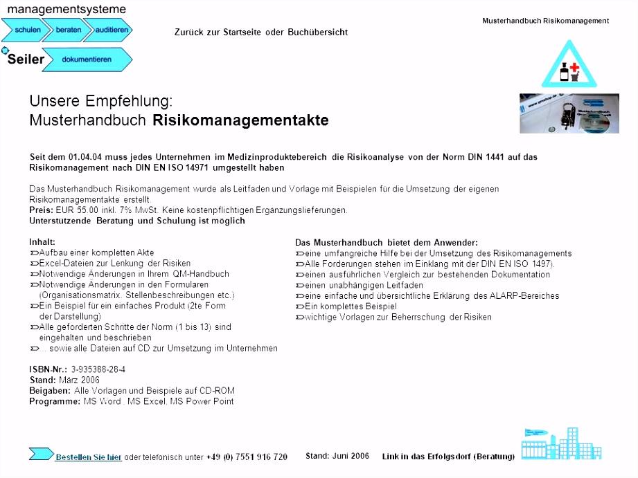 Be nungsanleitung Vorlage Word Qm Handbuch Muster Kostenlos