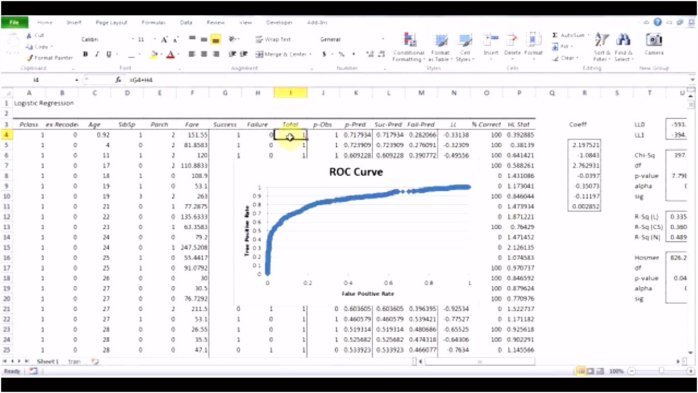 Logistic Regression Using Excel