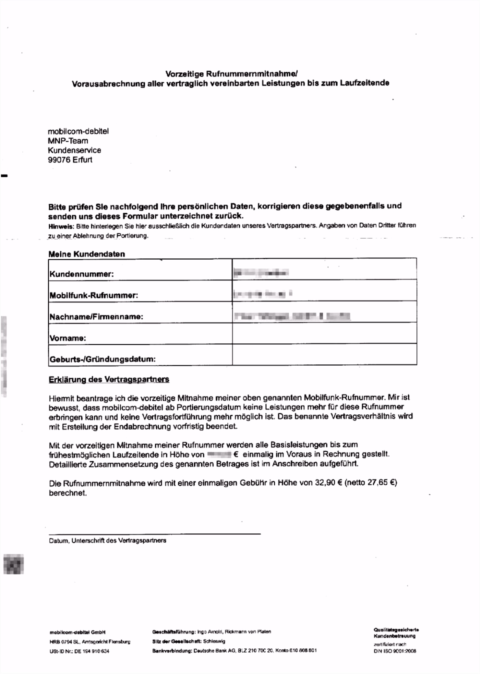 Muster Kndigung Handyvertrag O2 Mit Rufnummernmitnahme Lockcey Tag