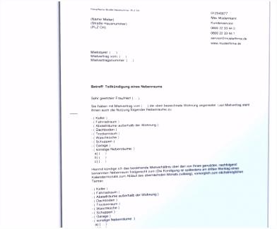 Beste Kündigung Mietvertrag Vorlage Kostenlos Doc Kündigung
