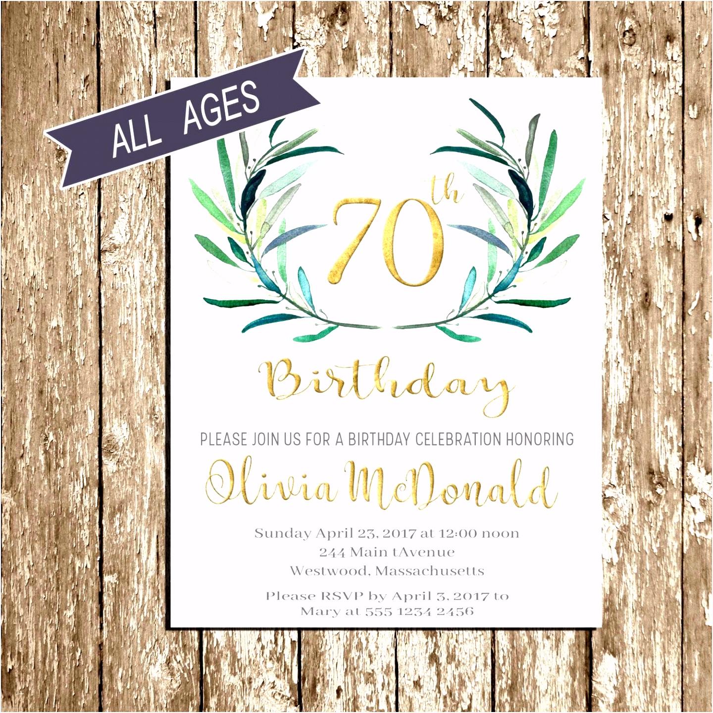 Einladungskarte 70 Geburtstag Genial Einladungskarten Vorlagen