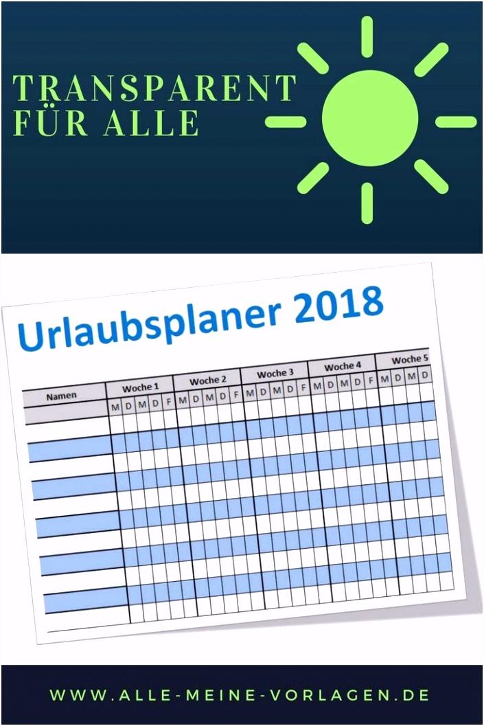 Excel Urlaubsplaner Vorlage