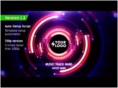 Audio React Tunnel Music Visualizer After Effects Template