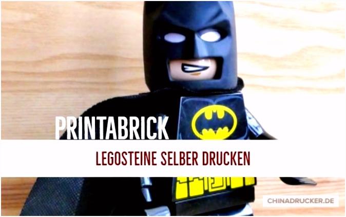 Lego Steine selber drucken mit dem 3D Drucker