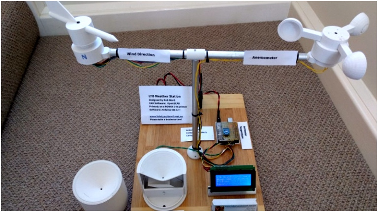 A True 3D Printed Weather Station