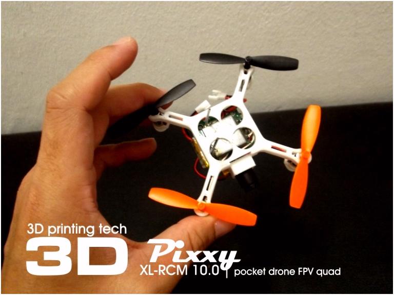 XL RCM 10 0 PIXXY Pocket drone FPV quad SupermotoXL Designs