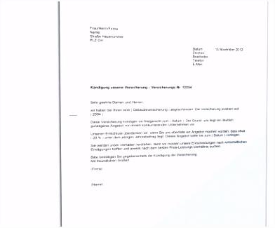 Briliant Kündigung Versicherung Aachenmünchener Vorlage Kündigung