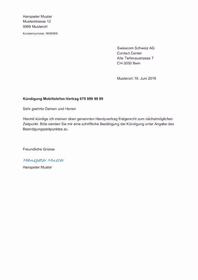 Swiss Kndigen Gratis Vorlage Im Word Format Muster Vorlagech
