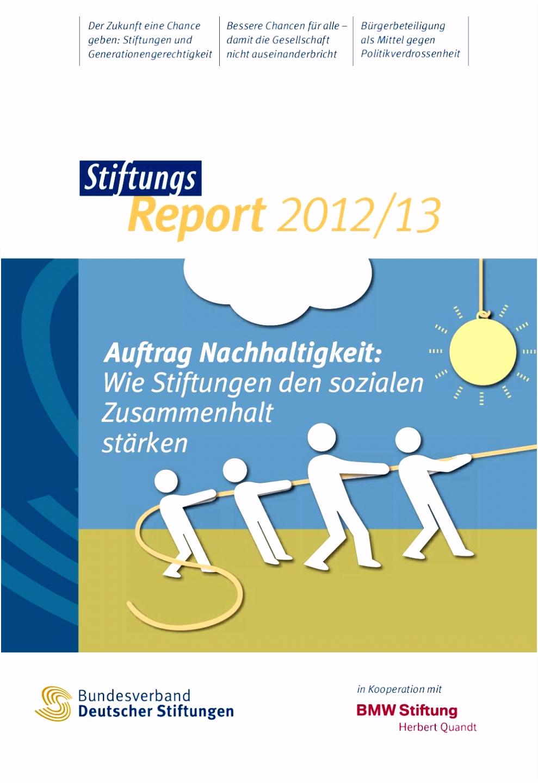 StiftungsReport 2012 13 by Bundesverband Deutscher Stiftungen issuu