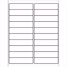 "Template for Avery 5161 Address Labels 1"" x 4"""