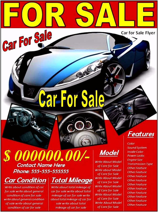 10 Car Sales Flyer Templates