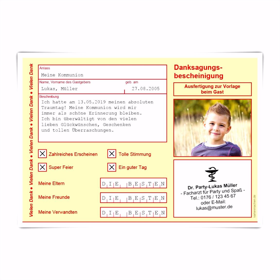 Baby Dankeskarten Müller