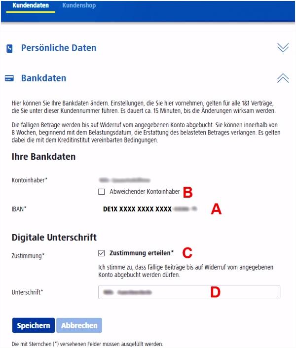 Bankkonto Wechseln Vorlage 1&1 Hilfe Center Bankverbindung ändern X8hw24nlo6 Ehocu6kja4