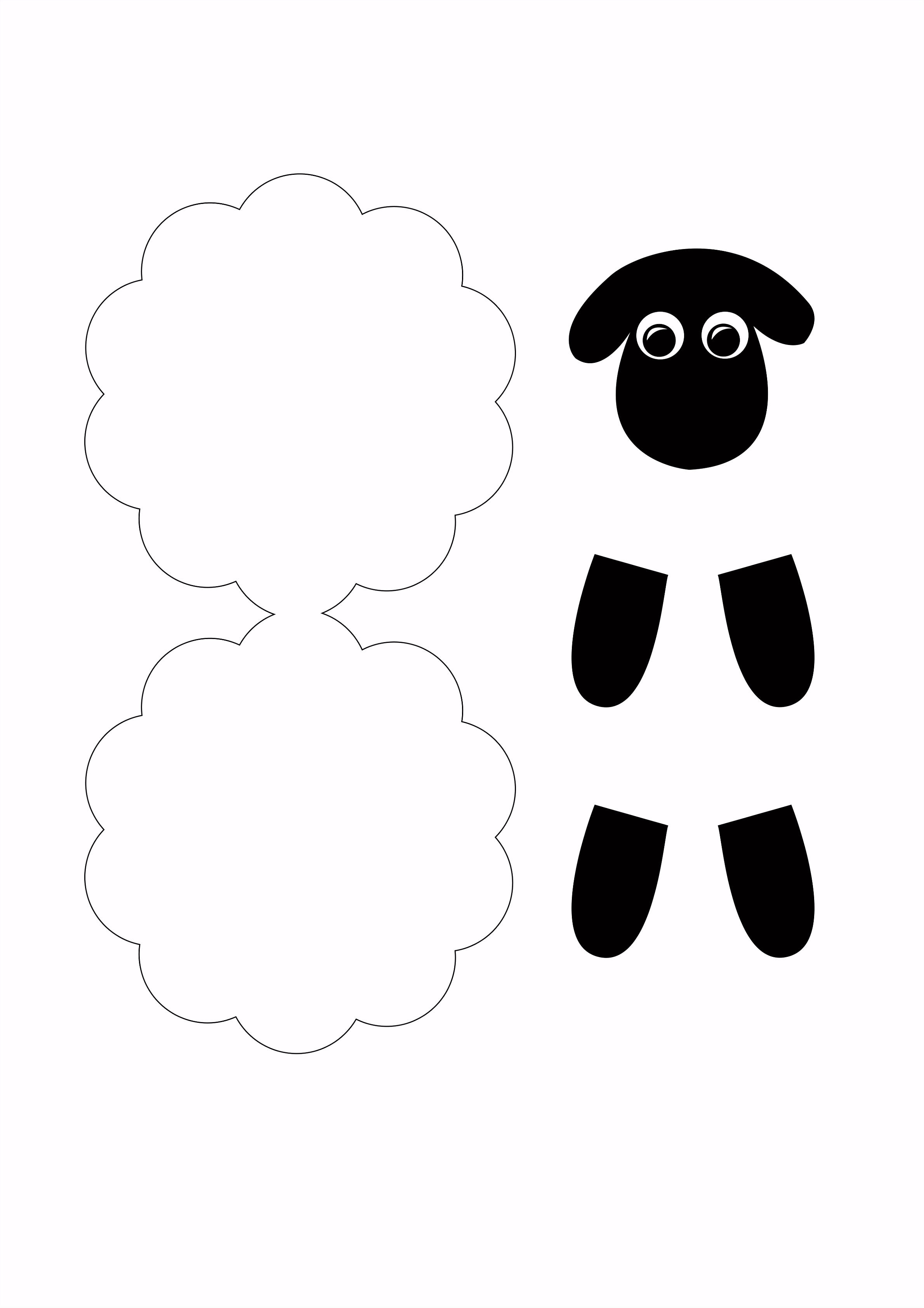 Schaf aus Papier mit Kindern basteln Card making