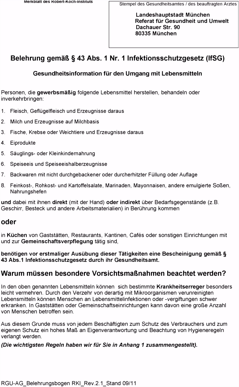 Belehrung gemäß 43 Abs 1 Nr 1 Infektionsschutzgesetz IfSG PDF
