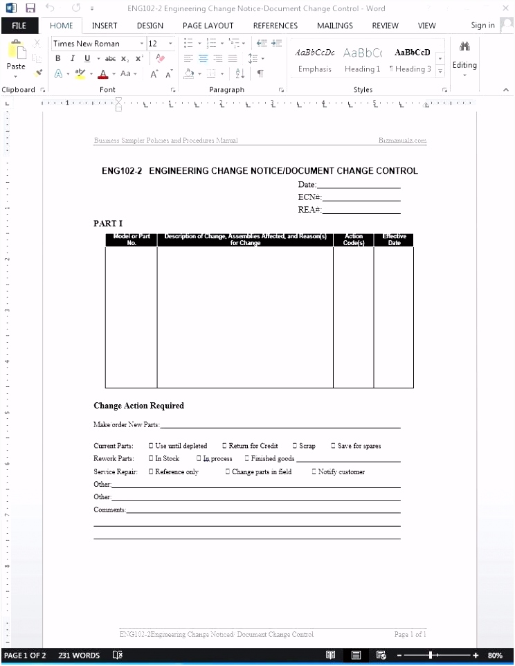change management document template – davidhdz