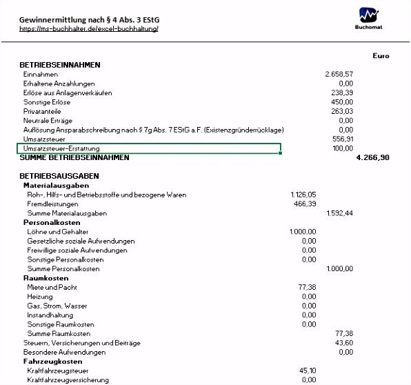 10 Angenehm Buchhaltung Kleingewerbe Excel Vorlage Bilder