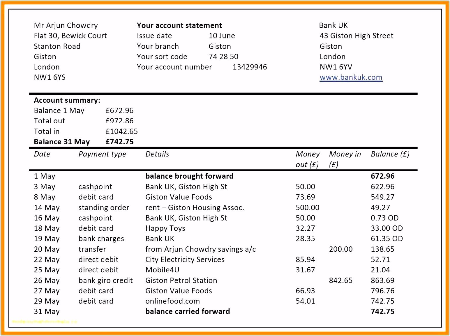 Prozent Berechnen Excel Von 30 Unique Cash Flow Statement Template