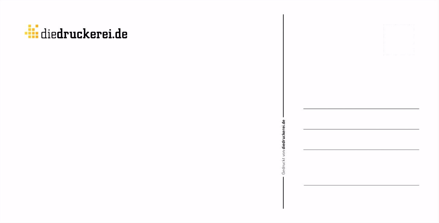 Layoutvorlagen kostenlos zum Download Postkarte Vorlage