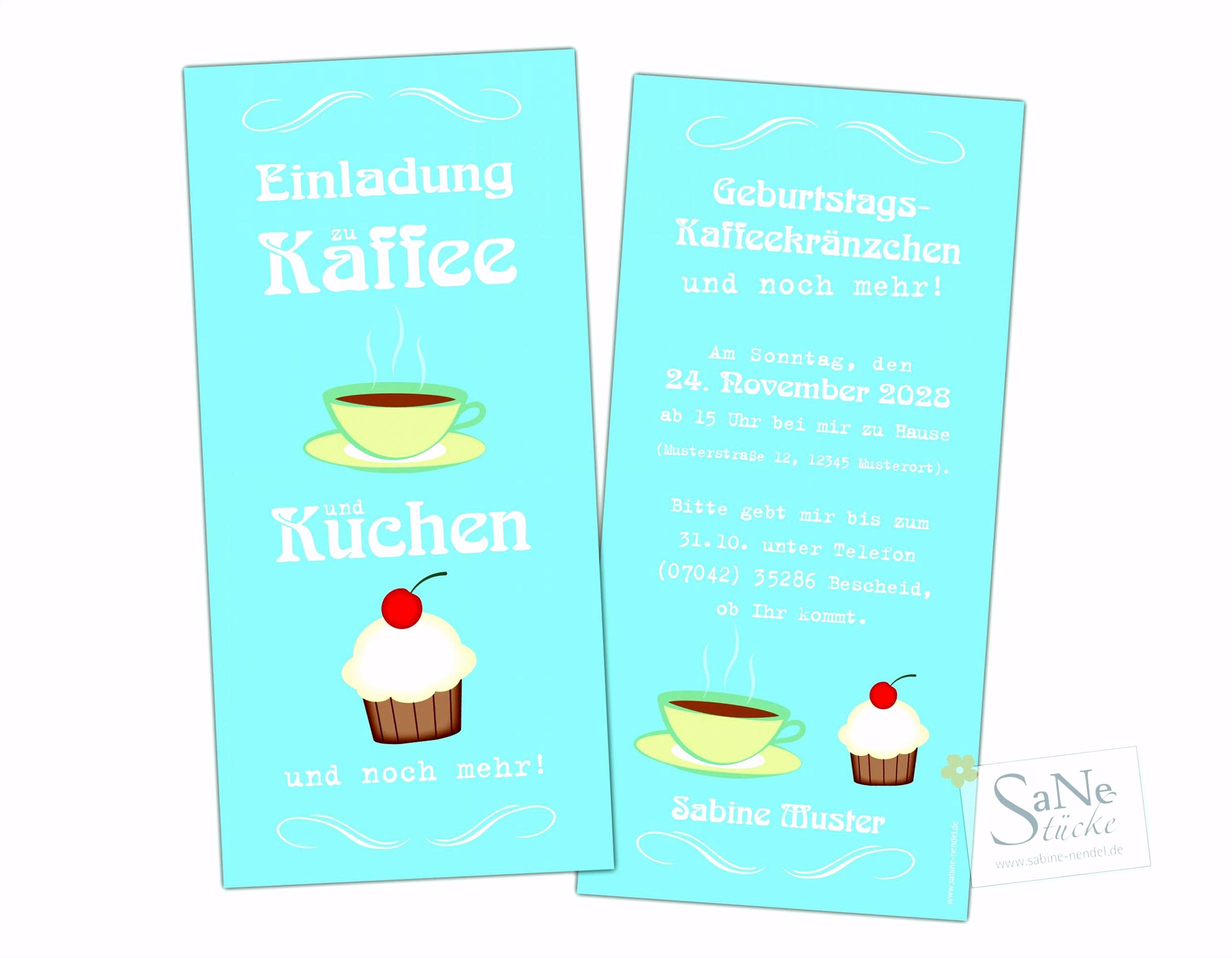 Einladung Kaffee Und Kuchen Genial 25 Einzigartig Einladung Zum