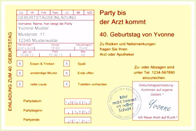 4 Lustige Geburtstagseinladung Vorlagen Kostenlos MelTemplates