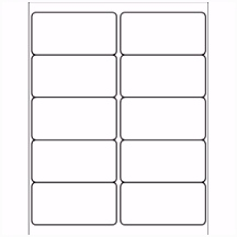 """Template for Avery 5163 Shipping Labels 2"""" x 4"""""""
