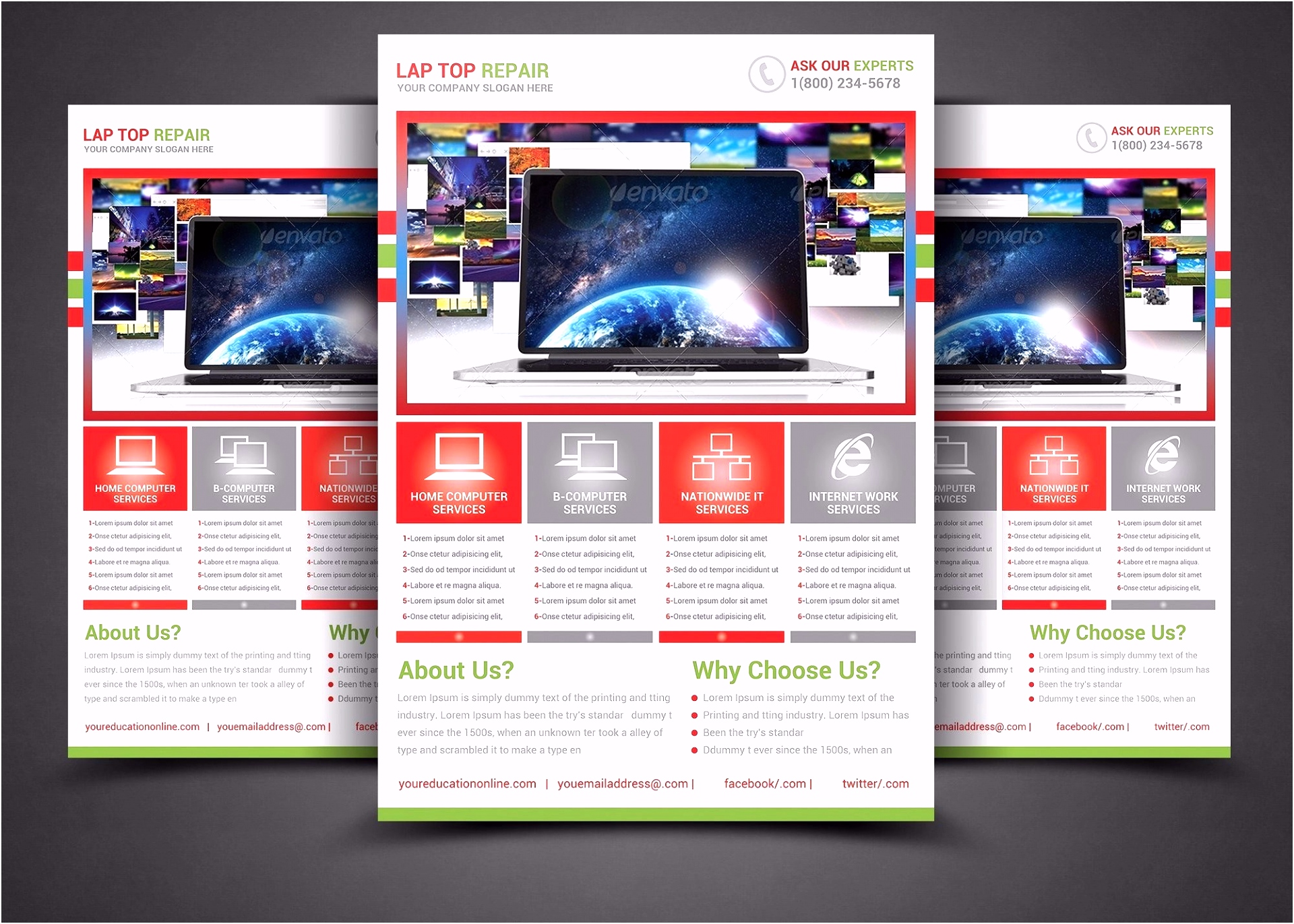 Free Flyer Designs Templates Awesome Design Business Brochure Flyer