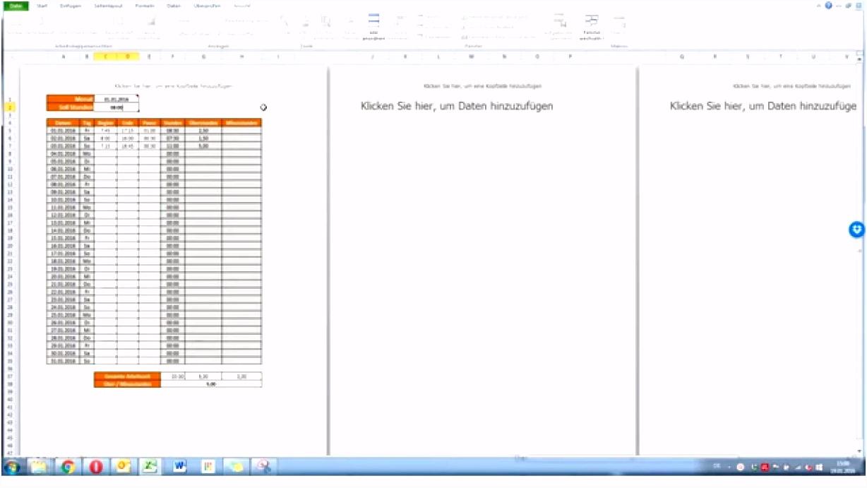Excel Vorlage Arbeitszeit – Vorlagens Download