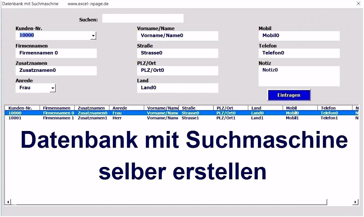 16 Erstaunlich Kundendatenbank Excel Vorlage Bilder