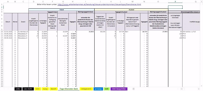 13 Genial Excel Vorlage Einnahmen Ausgaben Galerie