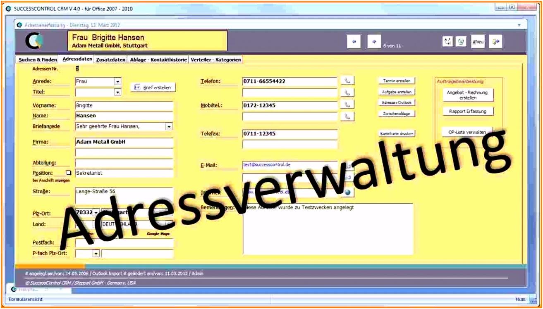 40 Kundenverwaltung Excel Vorlage Kostenlos