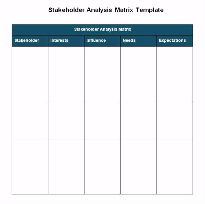56 Stakeholderanalyse Excel Vorlage